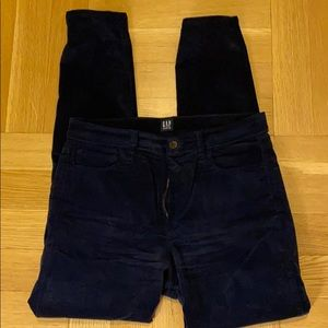 Blue velour jeans from Gap size 30